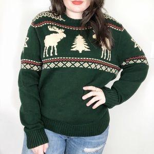 American Living Reindeer Winter Sweater